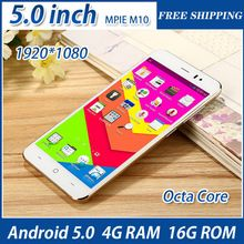5.0 inch Original Smartphone MPIE M10 MTK6752 Octa Core  1080P 4GB RAM 16GB ROM Dual Sim 13.0MP Camera android cell Mobile Phone