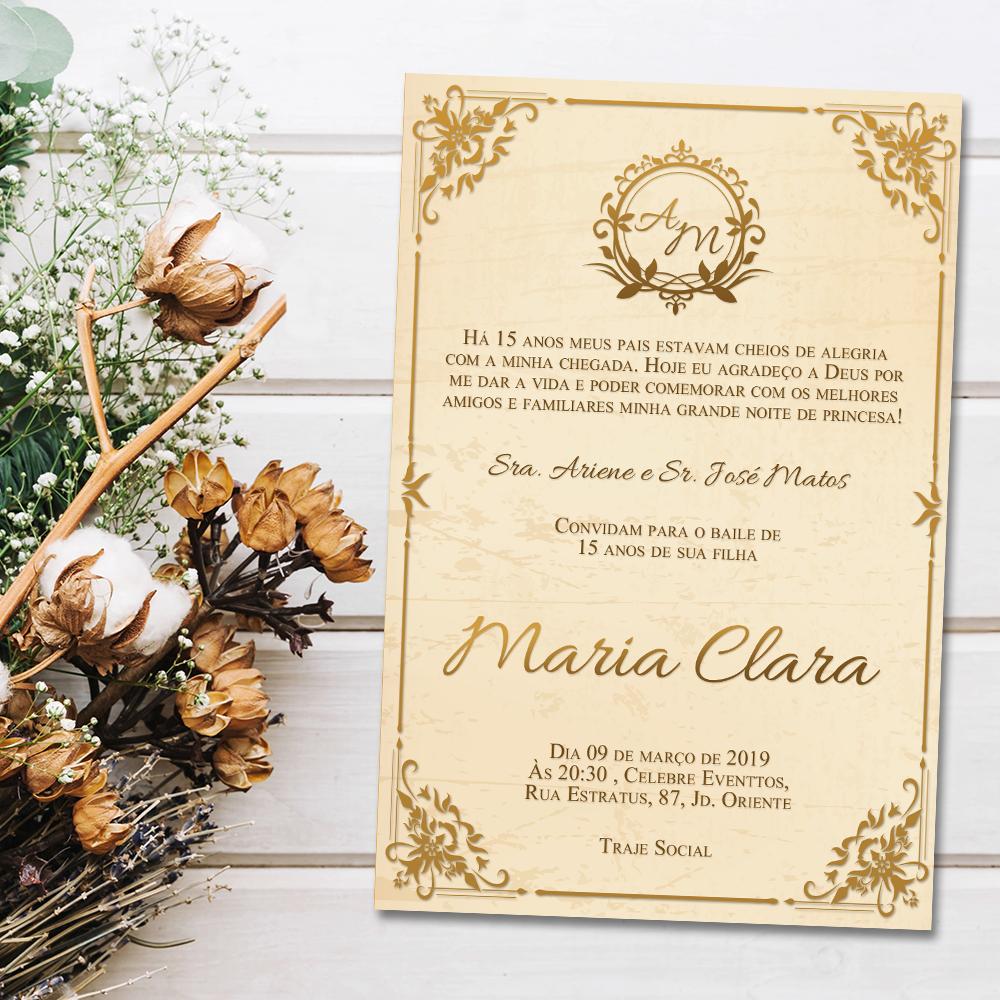Convite Realeza Debutante Digitali Convite Virtual Para
