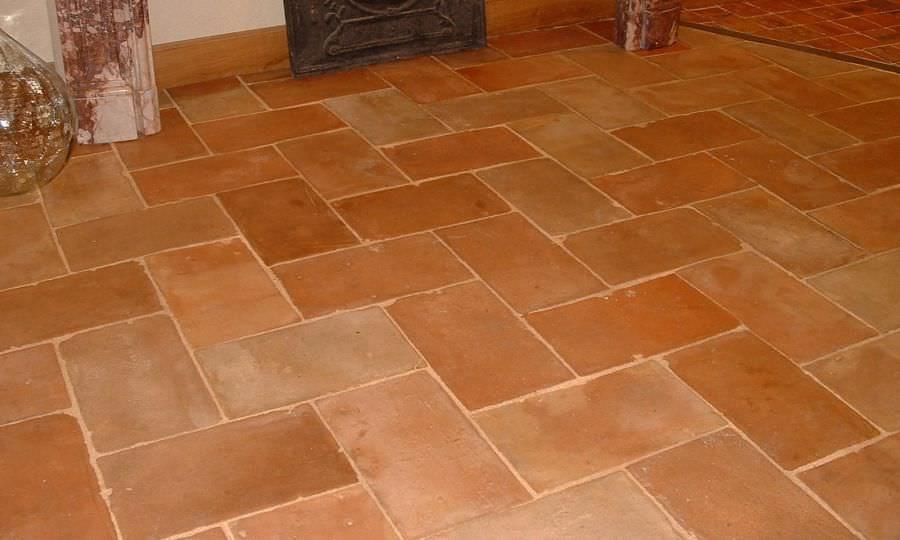 Indoor tile / floor / terracotta / aged PAREFEUILLE 02036