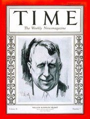 1927 edition of TIME magazine featuring William Randolph Hearst.