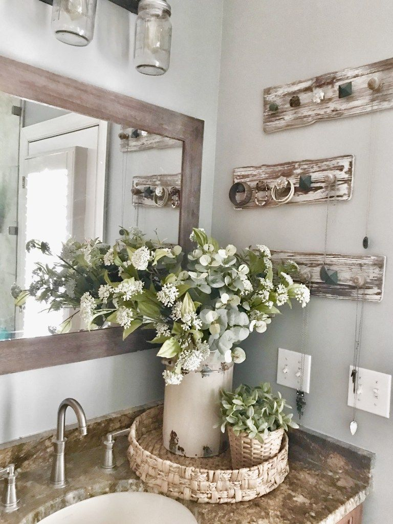 Master Bathroom Makeover Reveal Farmhouse Style Rustic