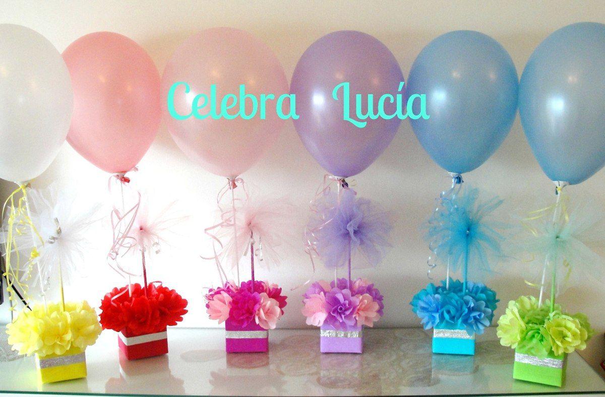Centros De Mesa Con Golosinas Y Globos Para Fiestas Infantiles Centros De Mesa Globos Para Fiestas Globos