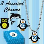 Assorted necklace charms