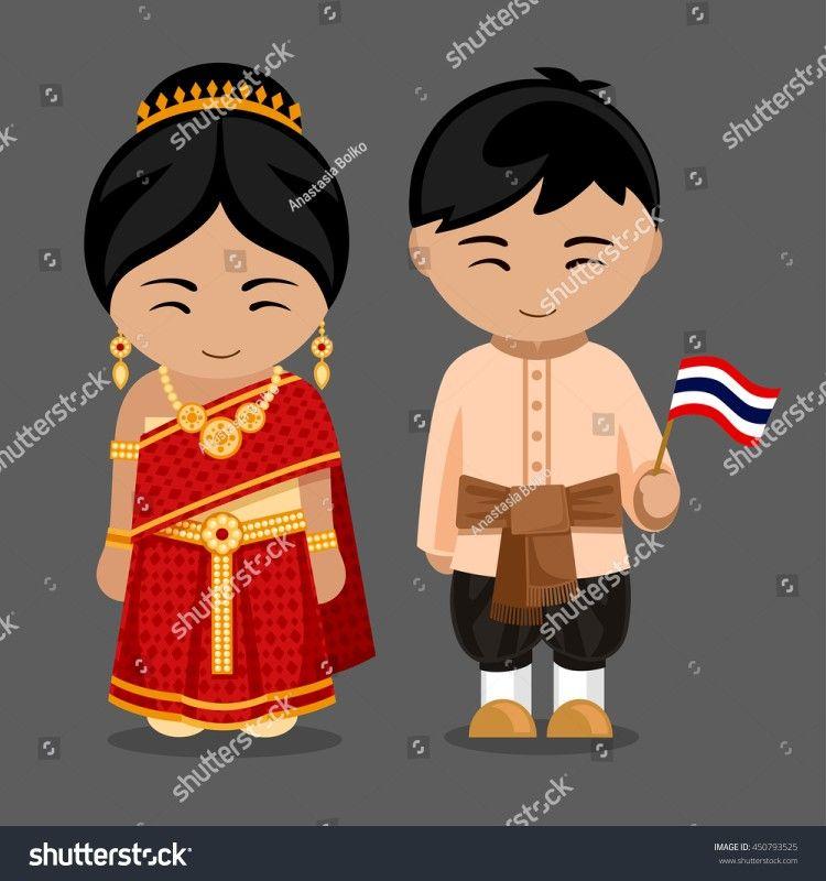 Tailandia Trajes Tipicos Del Mundo Ropa Para Bebe De
