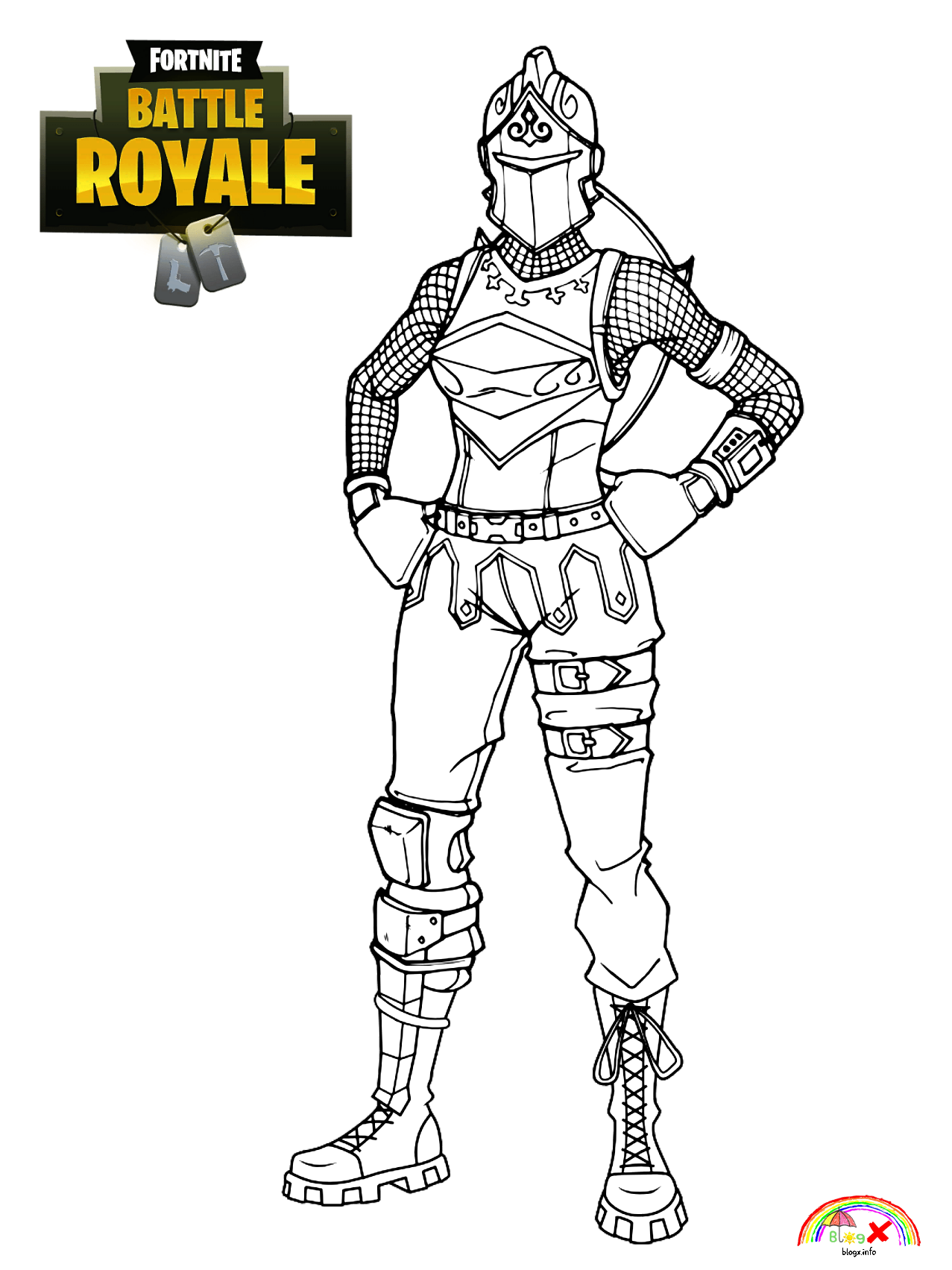 The Red Knight Is An Outfit In The Fortnite Battle Royale And Is A Part Of The Fort Knights Set Red Knight Fortn Red Knight Red Knight Fortnite Coloring Pages