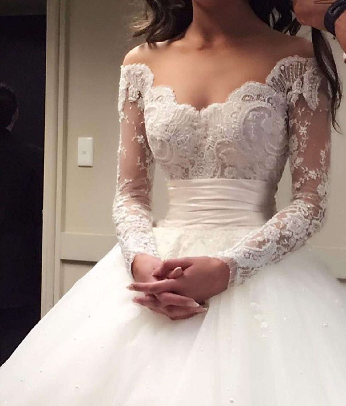 Unique offtheshoulder empire waist ballgown wedding dress more