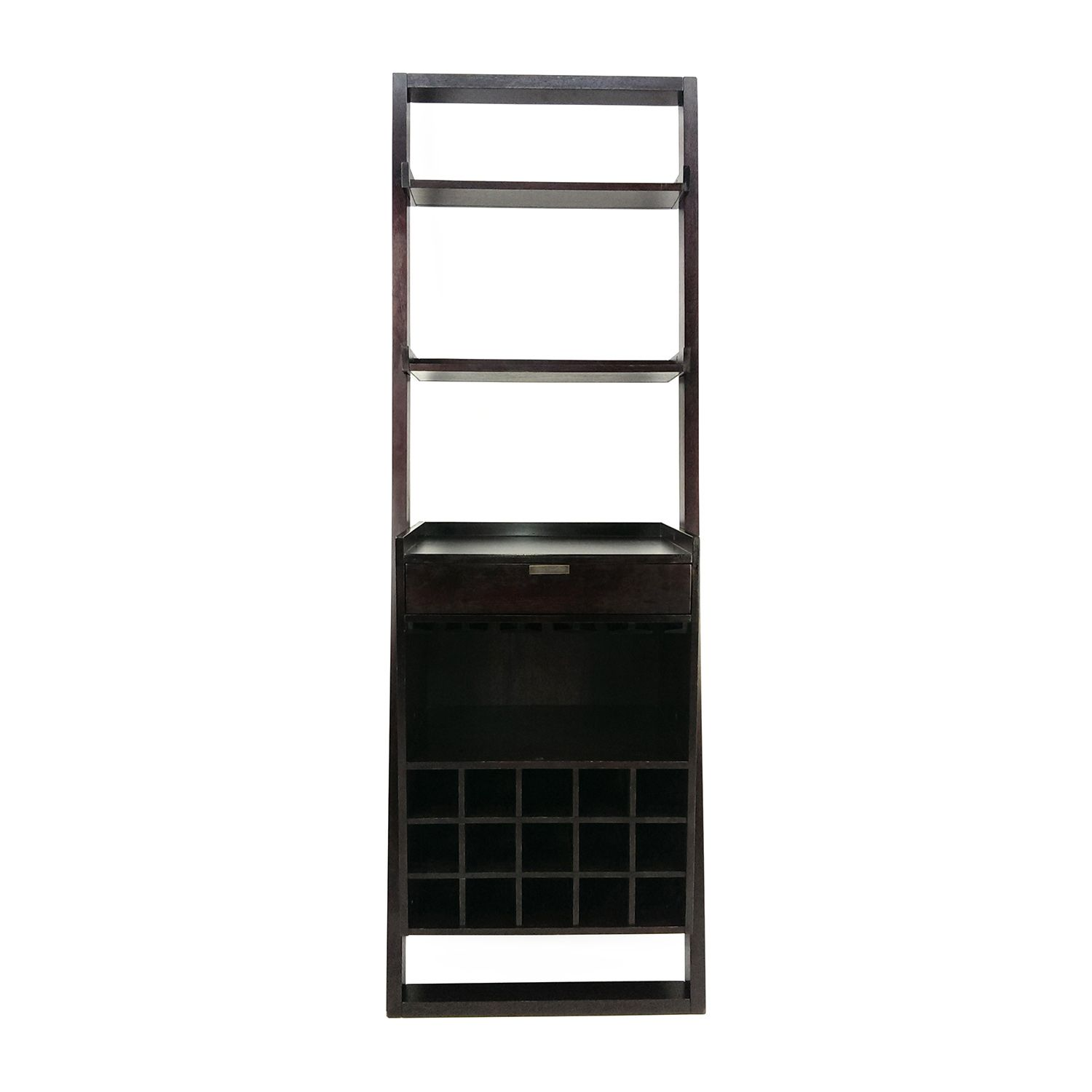 Shop Crate And Barrel Leaning Wine Rack Crate And Barrel Storage