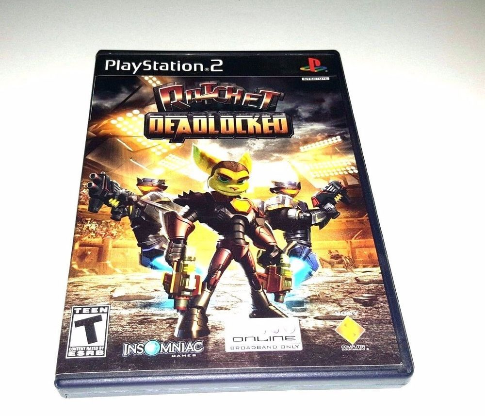 2 PLAYSTATION PS2 Complete Game RATCHET DEADLOCKED Clank