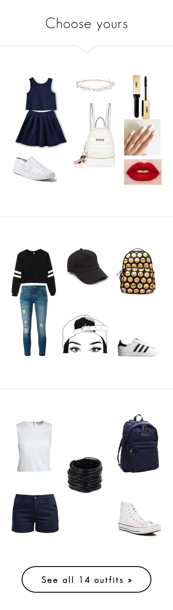 """""""Choose yours"""" by geovannadallas on Polyvore featuring moda, Steve Madden, River Island, Design Lab, MICHAEL Michael Kors, adidas Originals, rag & bone, Barbour, Converse e Canvas by Lands' End"""