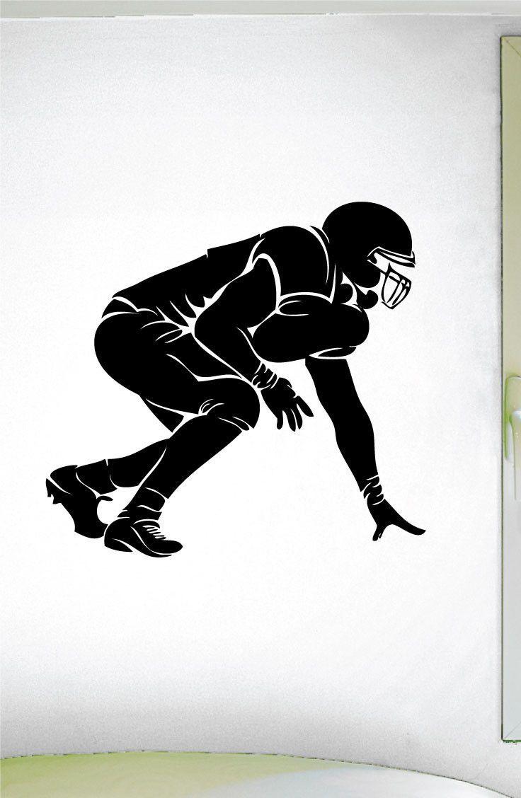 Football O Lineman Wall Decal 0303 Football Theme Decal