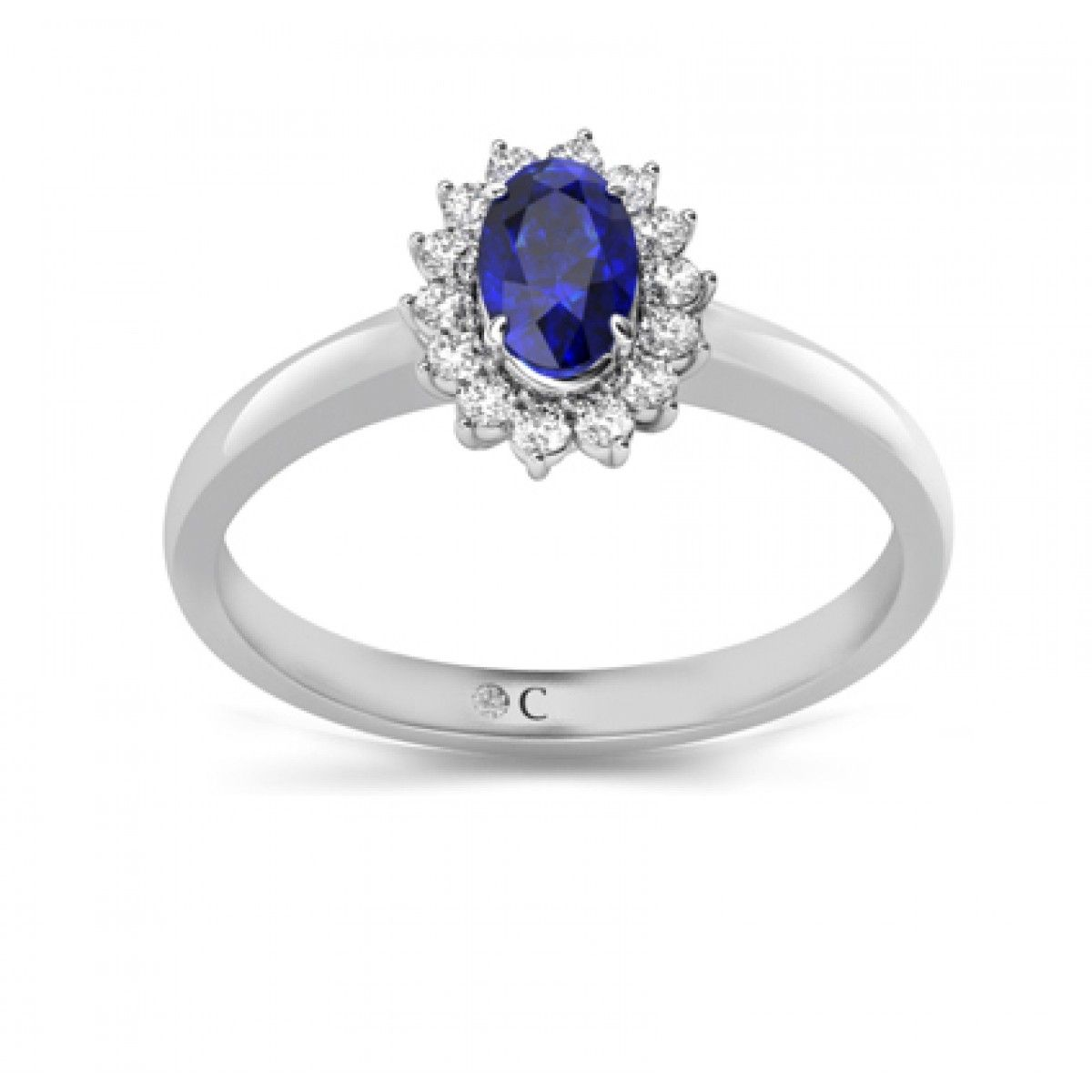 gold white gia tanzanite diamond ctw pin certified and ring