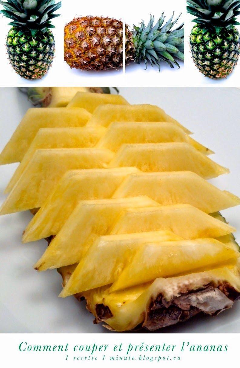 Ananas Buffet 1 sculpture de fruit et légume: comment couper et présenter l'ananas