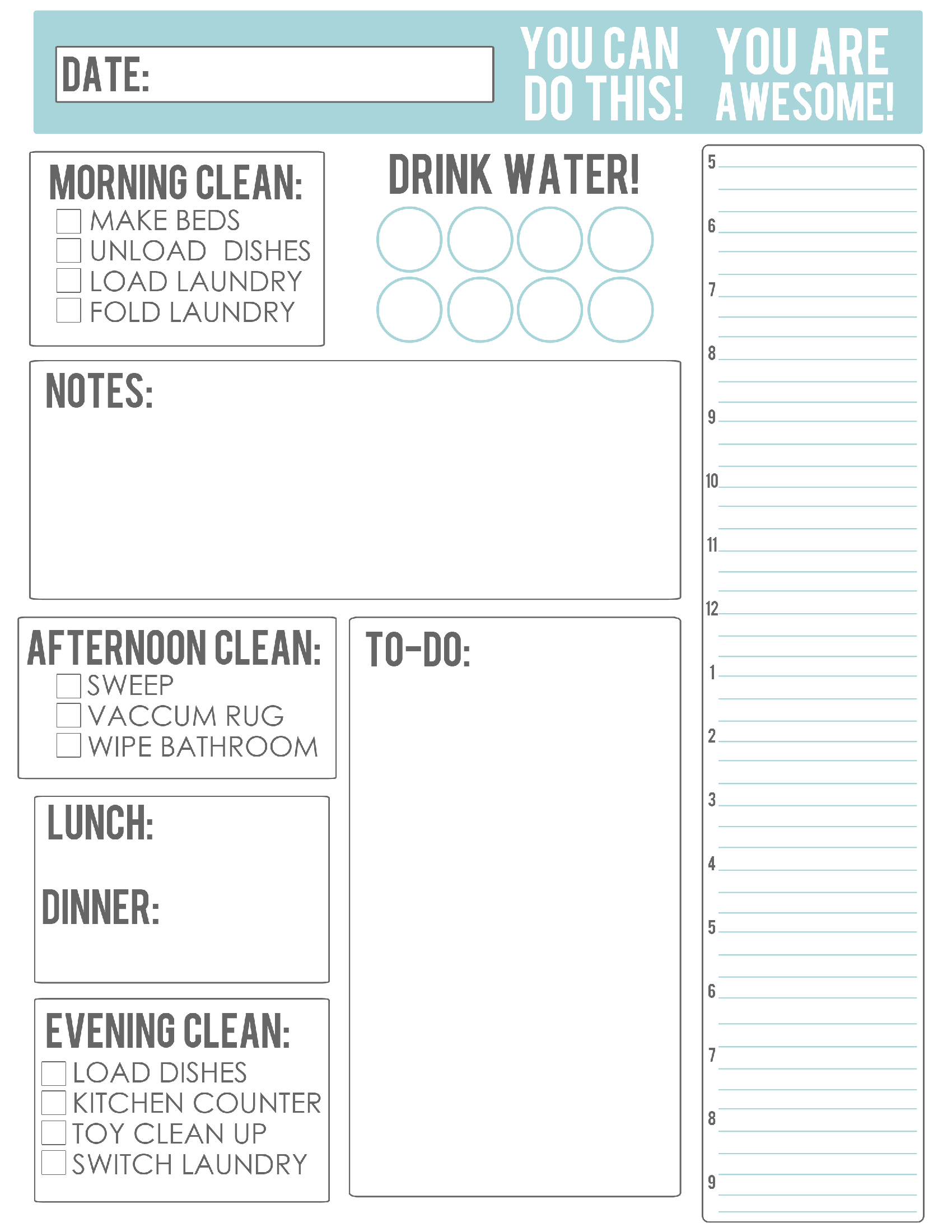 Thebusybudgetingmama Daily Schedule