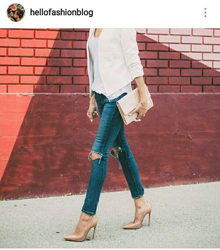 Jeans.  Blazer. Heels.