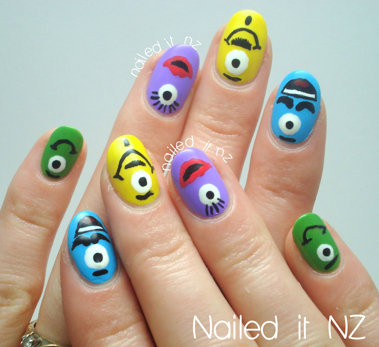 Nailed it nz little monsters nail art tutorial nail arts nailed it nz little monsters nail art tutorial diy solutioingenieria Image collections