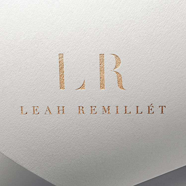 One of my favorite brand designs for one of my favorite people, Leah Remillet. 😘 / Branding my Love-Inspired.com/
