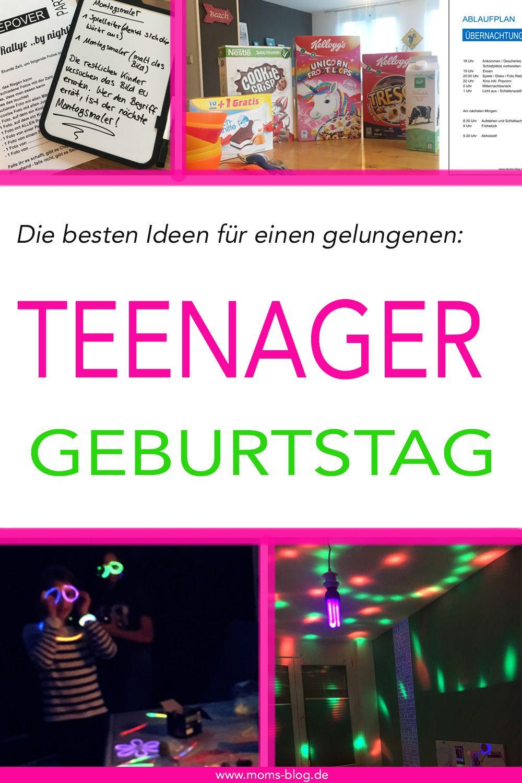 Die besten Ideen für eine gelungene Teenager - Geburtstagsparty! :-) ⋆ Moms Blog, der praktische Familienblog! #partyideen
