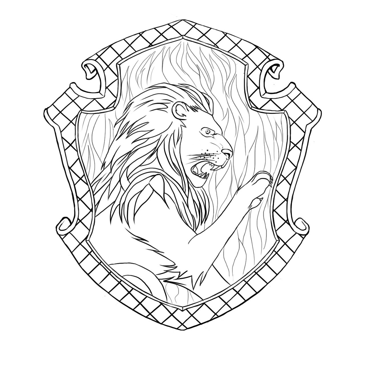 Pottermore Insider Griffindor Harry Potter Coloring Pages