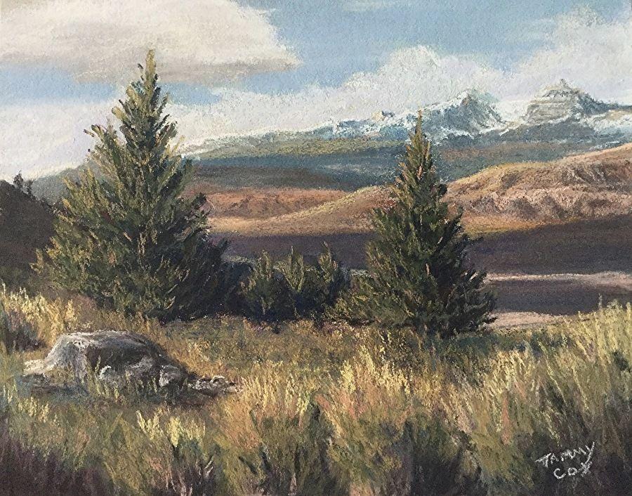 Ramshorn Peak Firstfall by Tammy Cox Pastel ~ 8 x 10