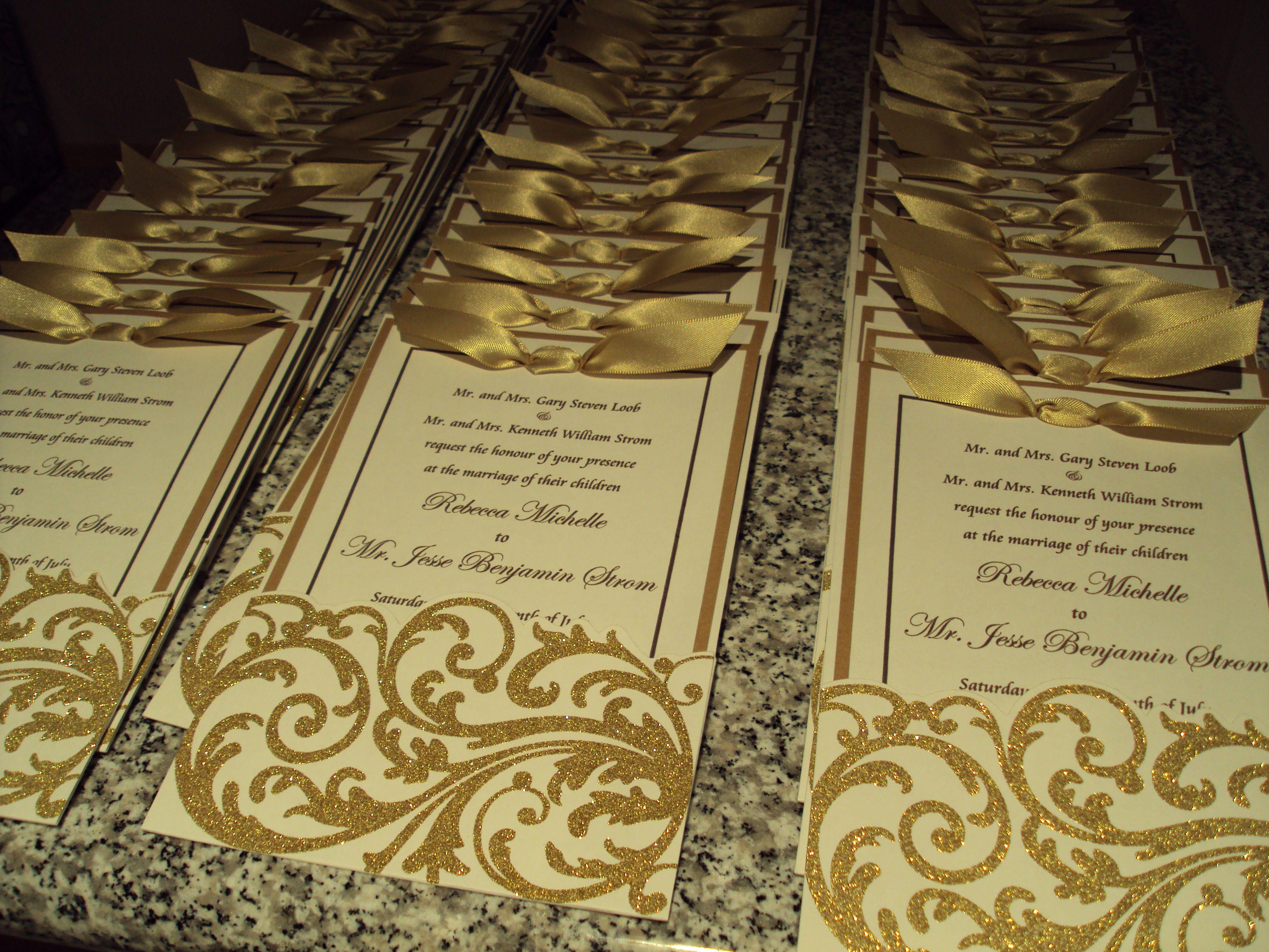 Handmade Wedding Invitations Theme Gold And Chocolate Brown: Chocolate Ivory Wedding Invitation At Reisefeber.org