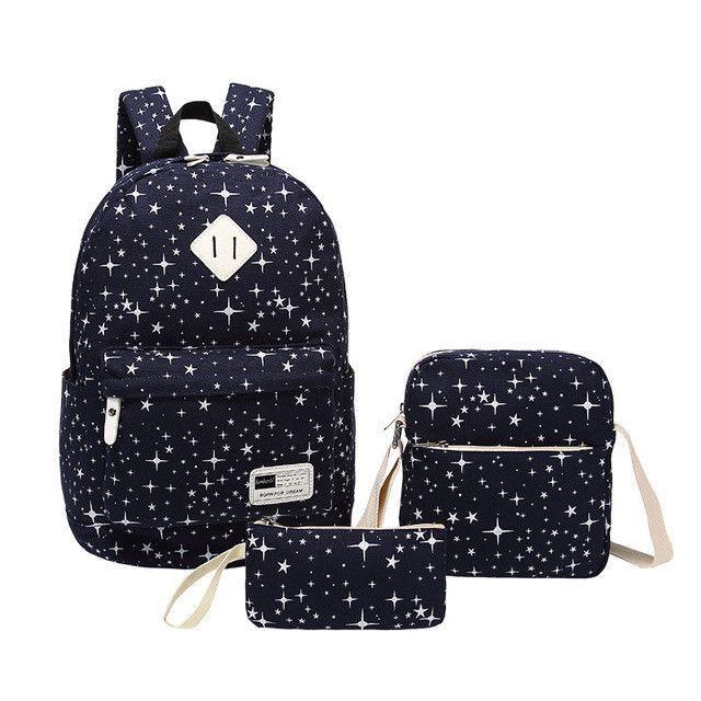 7286304825 Print Star Bookbag 3 Pcs Sets