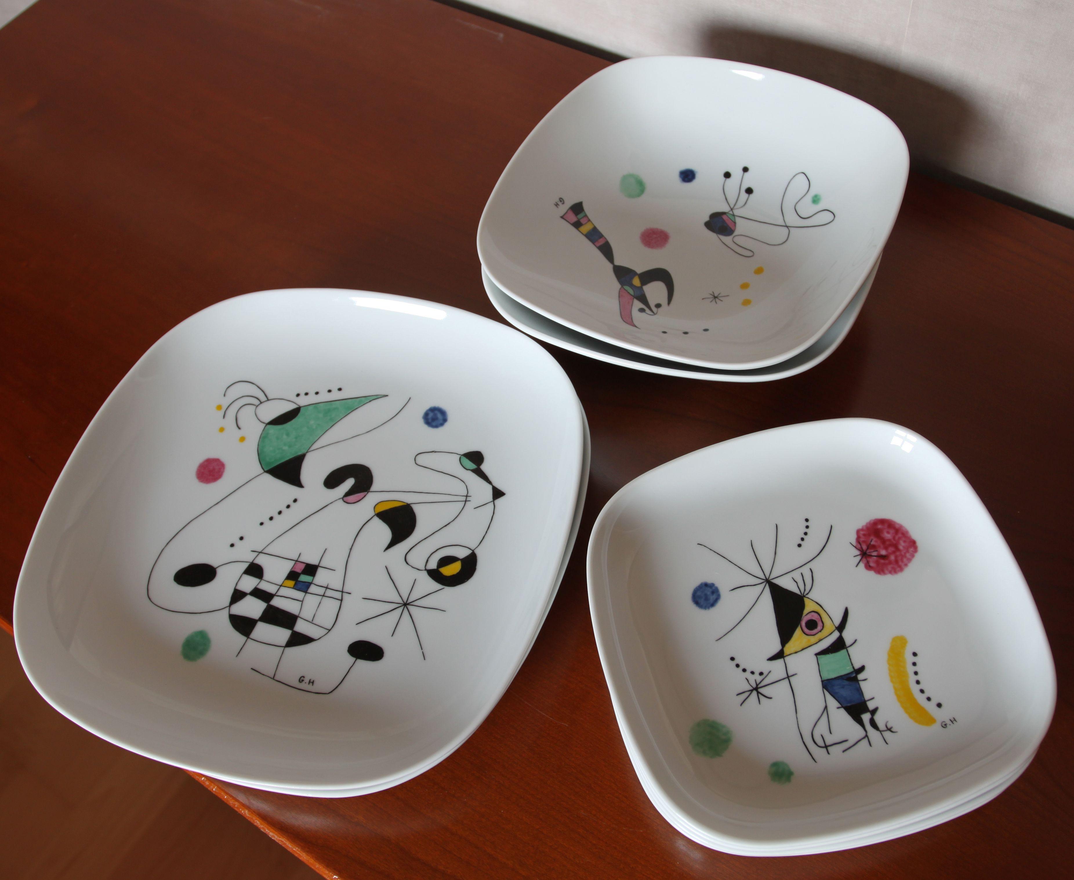 Peinture Sur Porcelaine Assiette assiettes : peinture sur porcelaine inspiration joan miro
