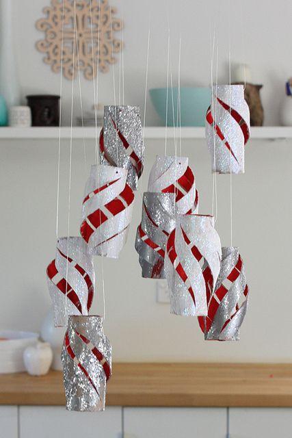 Toilet Paper Lantern Close Navidad Casera Pinterest Papel - Adornos-de-navidad-con-rollo-de-papel-higienico