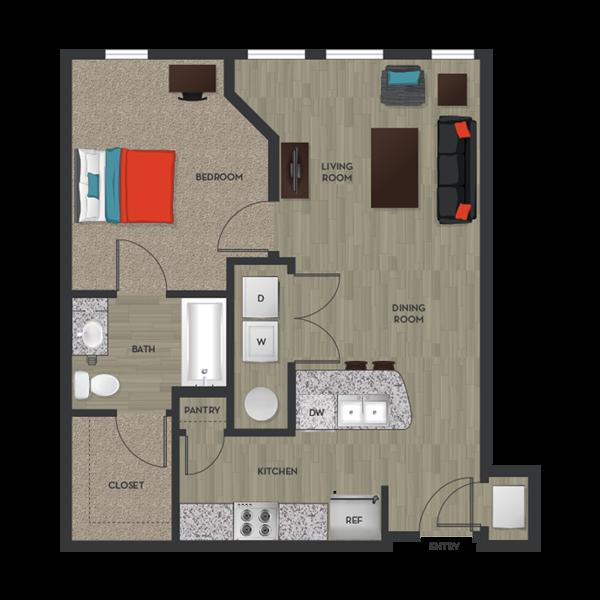 Floorplan Apartments For Rent Floor Plans Closet Kitchen