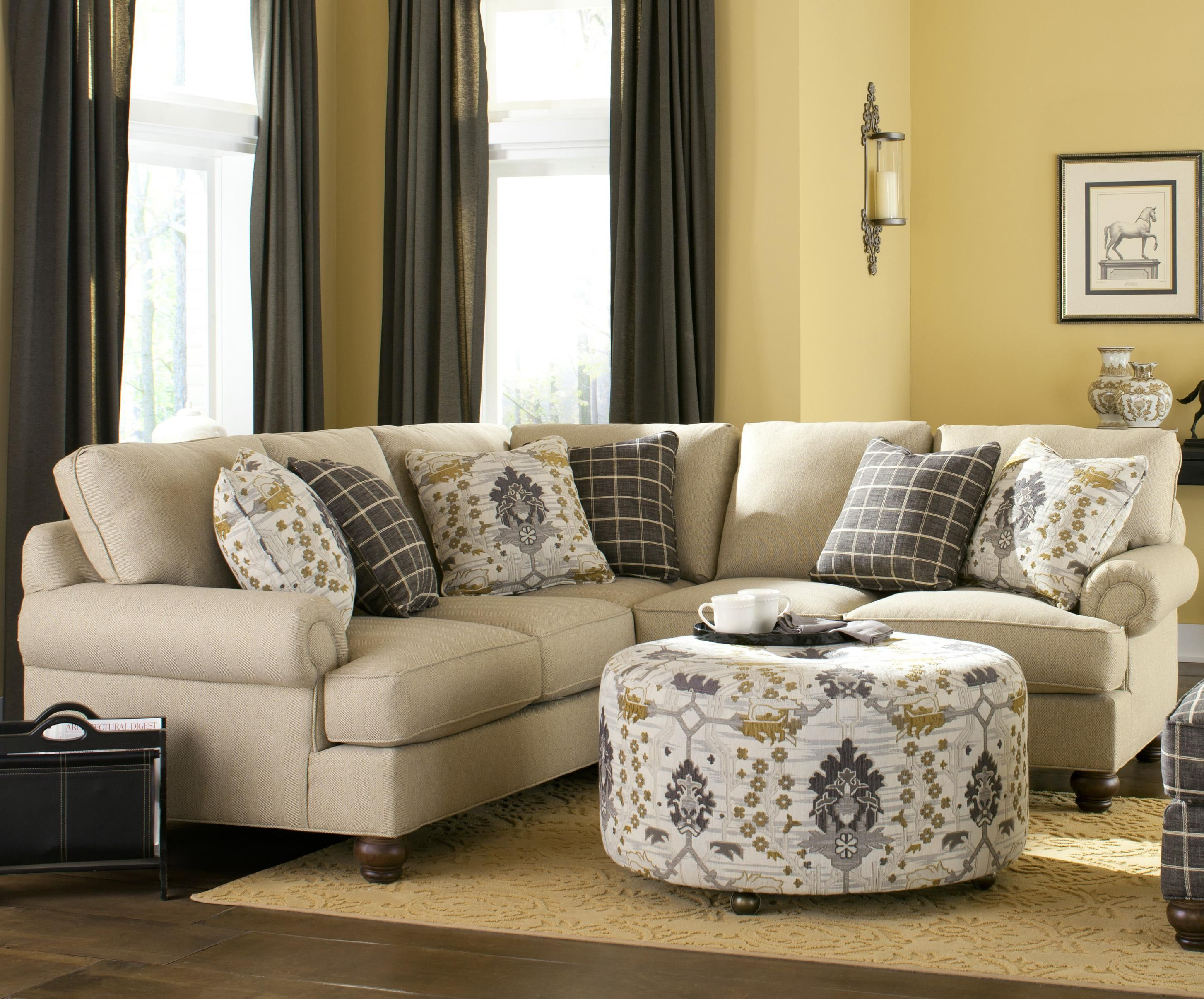 C9 Custom Collection b Custom b 2 Pc Sectional Sofa by