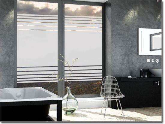 Sichtschutz Mit Streifen Als Milchglasfolie Sichtschutzfolie Folie Fenster Sichtschutz Fensterfolie