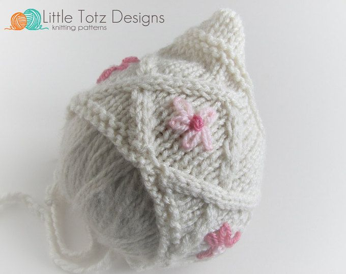 Spring Blooms Pixie Bonnet Knitting Pattern Newborn Needle