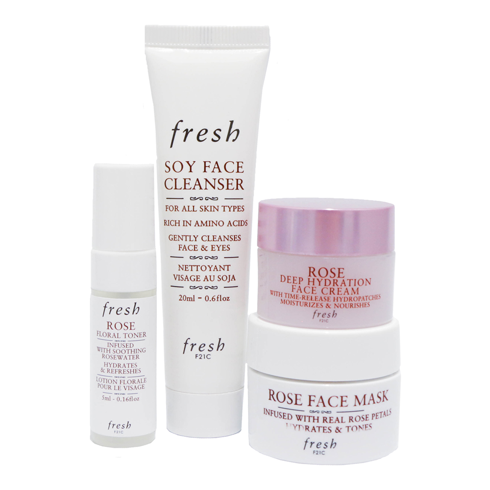 Buy Fresh Rose Dive Into Deep Hydration Travel Skincare Kit Sephora Singapore In 2020 Skin Care Kit Face Cleanser Gel Cleanser