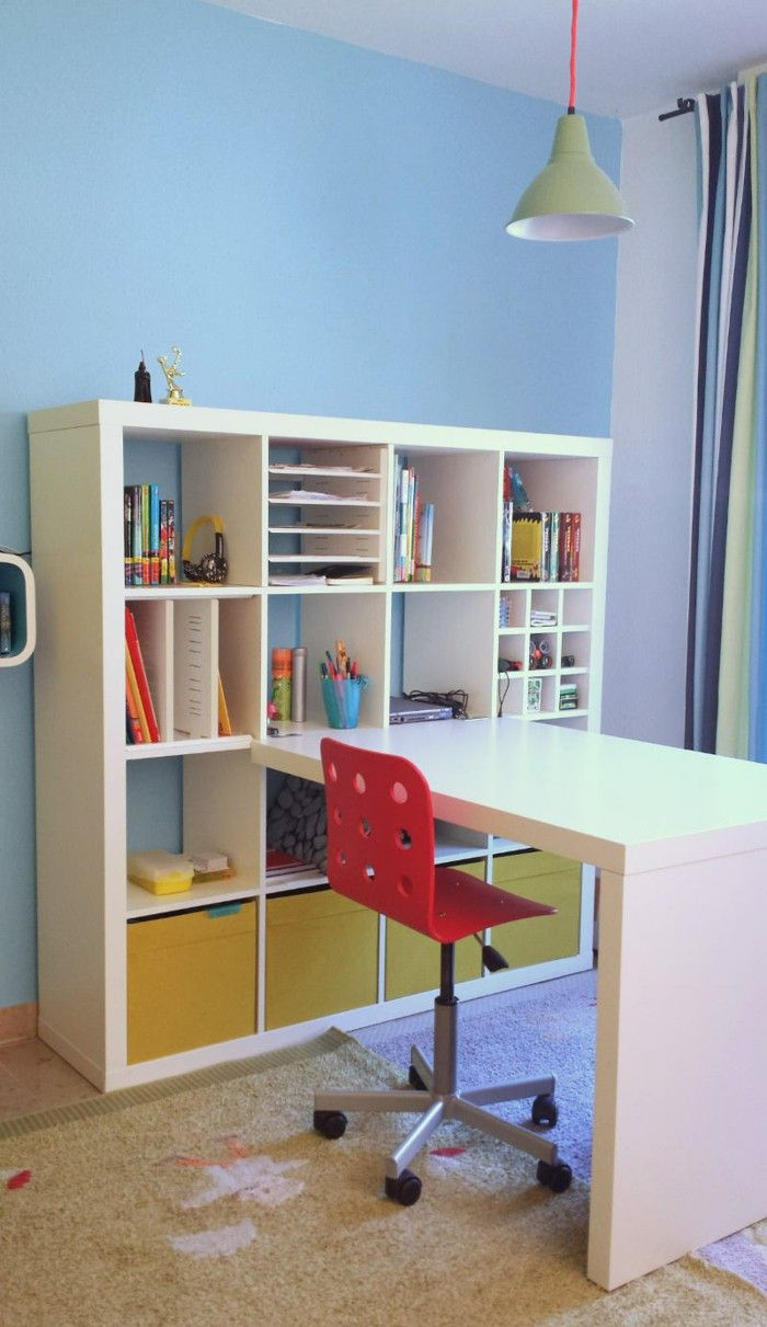 Ikea Expedit Shelf Drawers Storage Desk Offices Pinterest