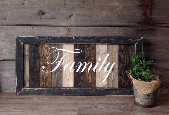 farmhouse decor farmhouse style Home rustic home sign farmhouse sign farmhouse 36X18 home Sign wood family sign family wood sign