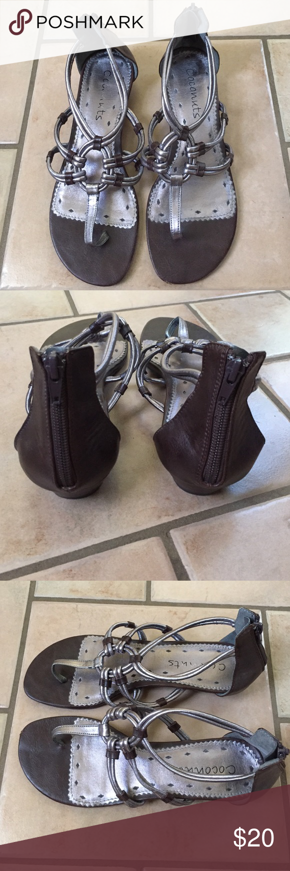 Coconuts sandals These sandals are in great condition. Worn once or twice. Shoes Sandals