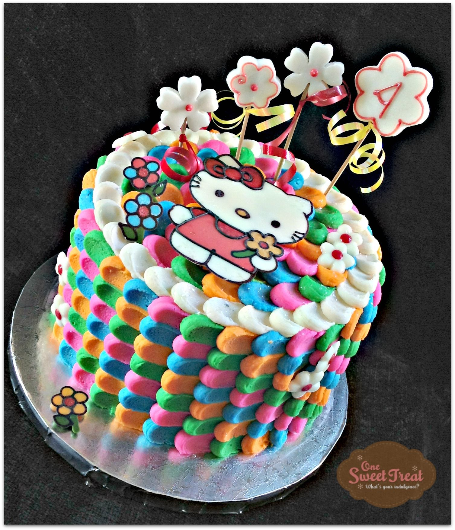 Hello Kitty Cake buttercream wwwOneSweetTreatcom One Sweet