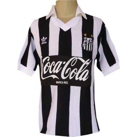 758a336f7d Camisa retrô SANTOS Listrada LOGO coca cola | SANTOS SHIRT | Camisa ...