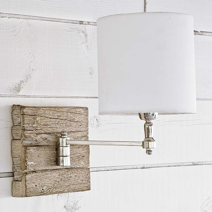 Driftwood Swing-Arm Wall Sconce L&  sc 1 st  Pinterest & Driftwood Swing-Arm Wall Sconce Lamp | Dream Home | Pinterest ...