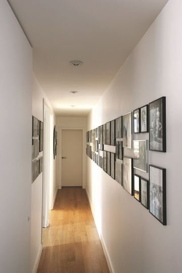 Appartement paris 7 me r novation d 39 architecte color e couloir accumulation et c t maison for Couloir appartement