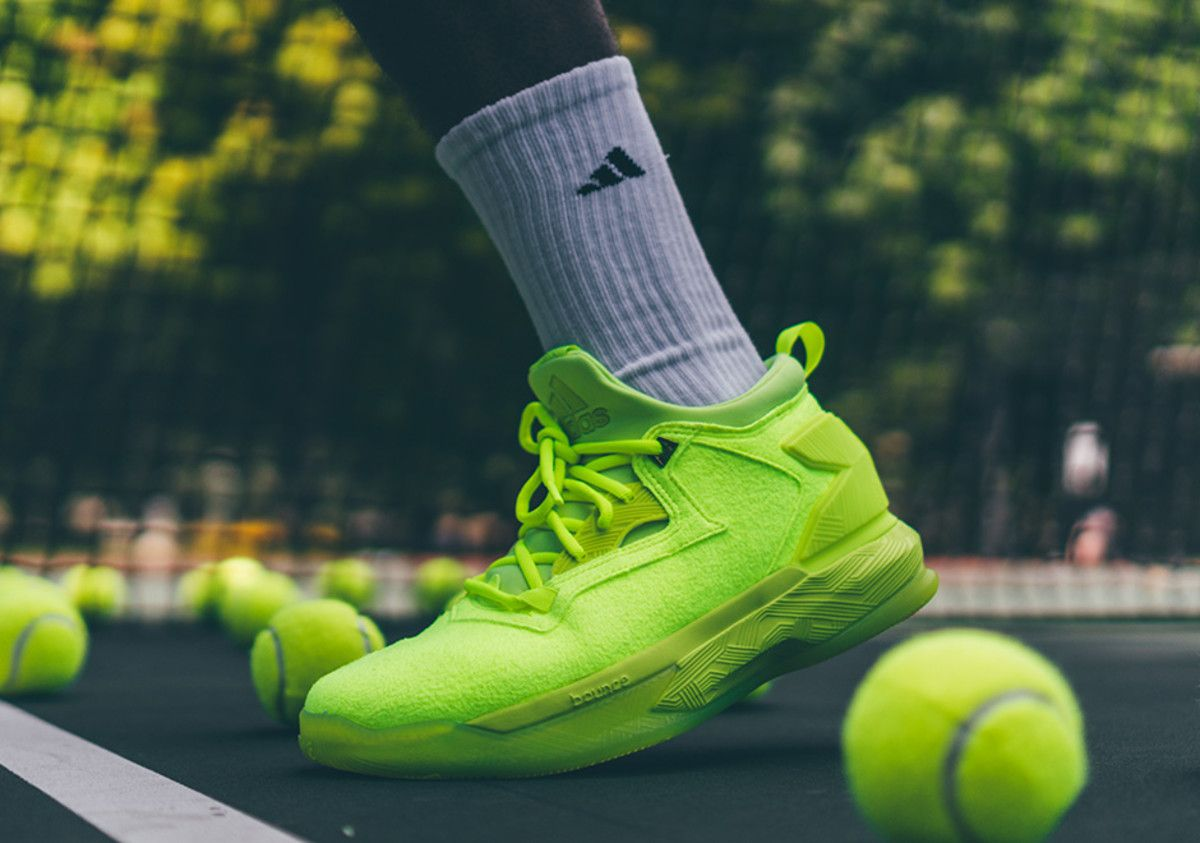 The Adidas D Lillard 2 Tennis Ball Arrives In Time For The Us Open Sneakers Adidas Release Tennis Ball