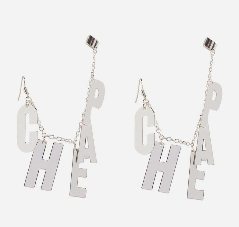 The Cheap Monday Letter Cuff pits grunge rock with rocker chic to create a wonderfully eye-catching statement piece. The completely nickel-free ear cuff is built with large block letters paired with a thin chain. http://www.zocko.com/z/JFE2e