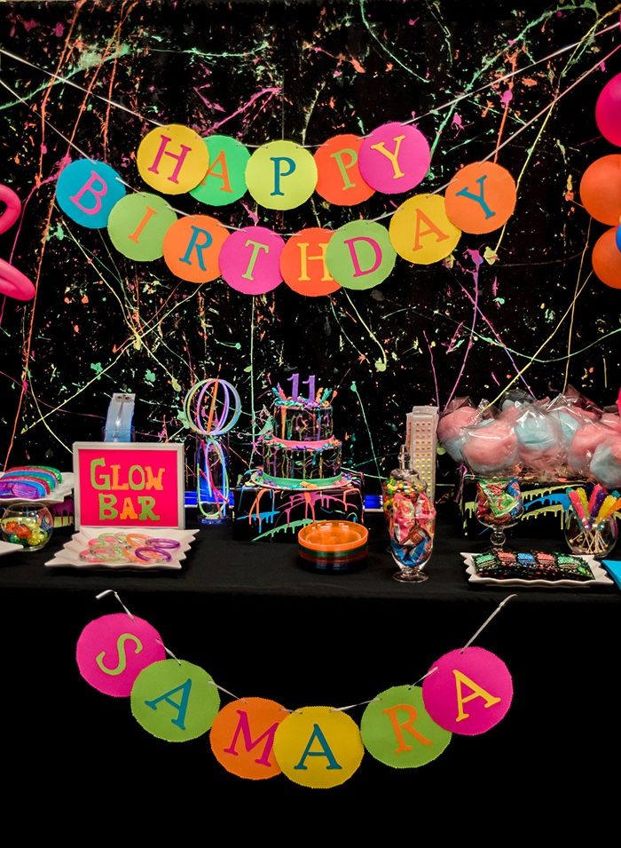 Neon Glow Birthday Party on Karas Party Ideas KarasPartyIdeascom