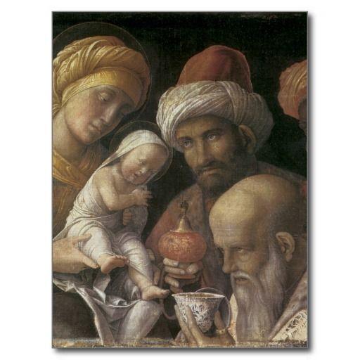 Andrea Mantegna Adoration Of The Magi Postcard Zazzle Com Epifanía Del Señor Magos De Oriente Arte Renacentista