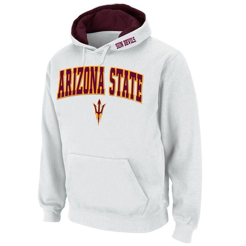 Arizona State Sun Devils Stadium Athletic Arch & Logo Pullover Hoodie - White
