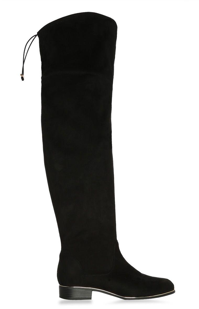 Boots, Knee high boots, Black heel boots