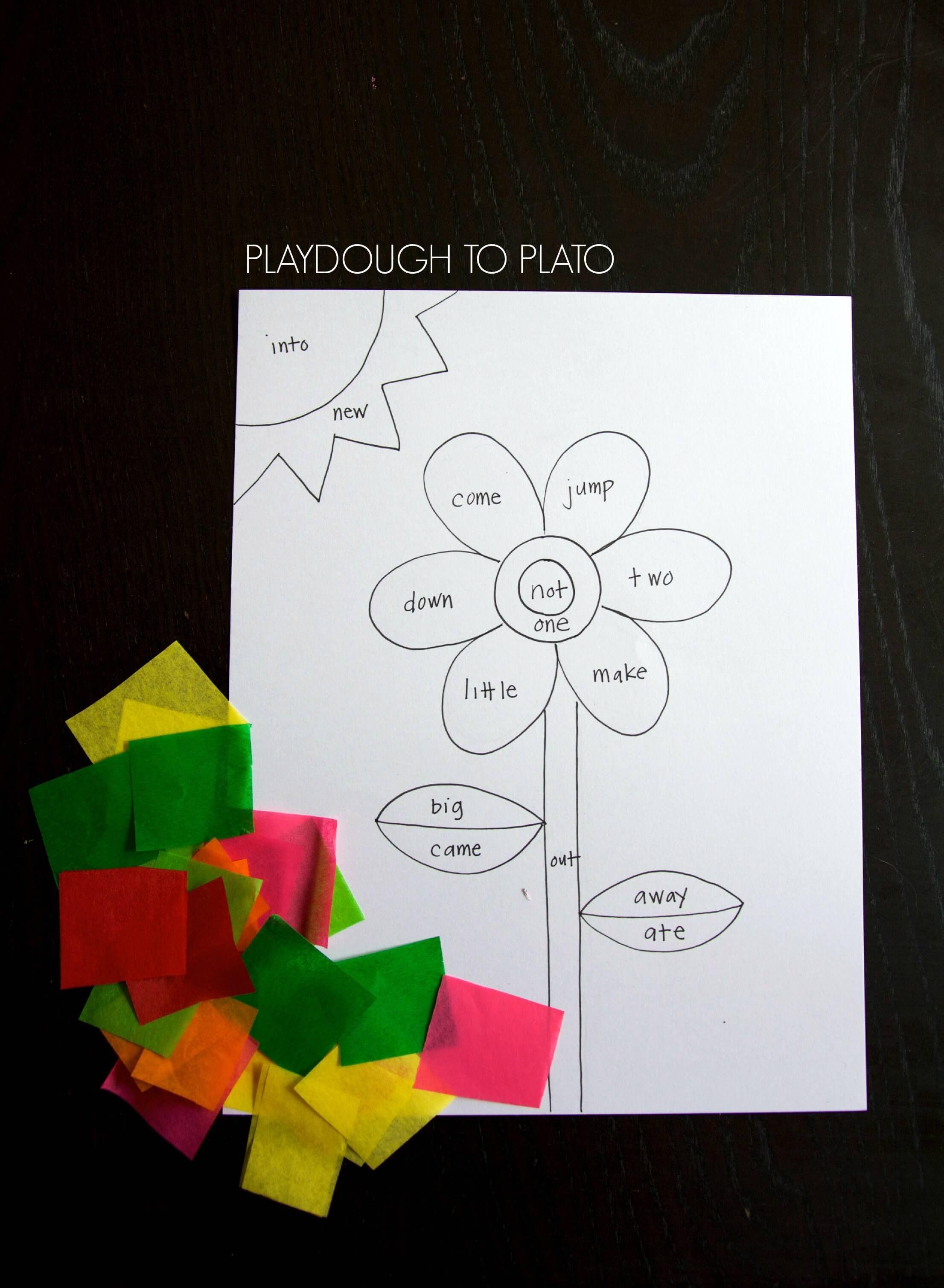 Tissue Paper Sight Word Craft