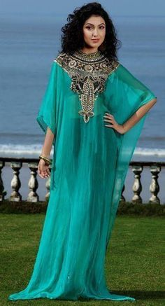 Caftan Marocaine 2019 Luxury Beaded Dubai Kaftan Dress Three Quarter Sleeve Evening Dresses Saudi Arabian Prom Gown Formal Dress Crazy Price Weddings & Events