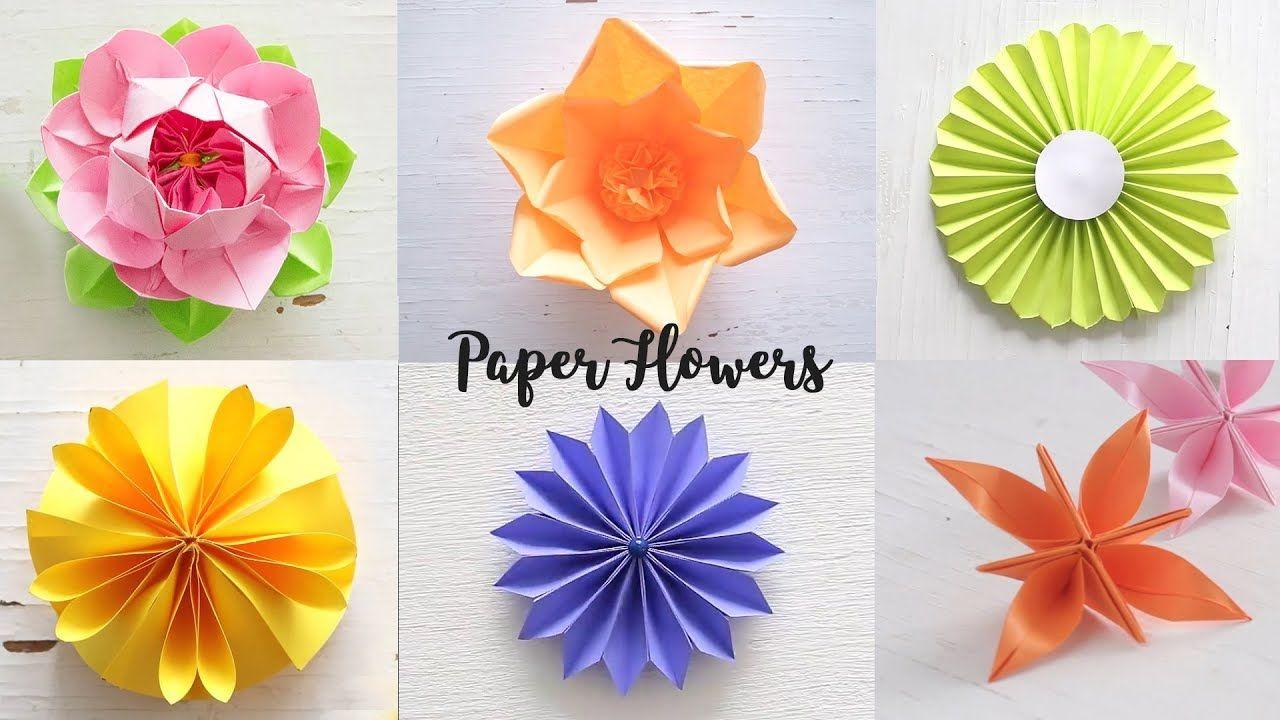 6 Easy Paper Flowers Flower Making Diy Origami Y Tarjetas