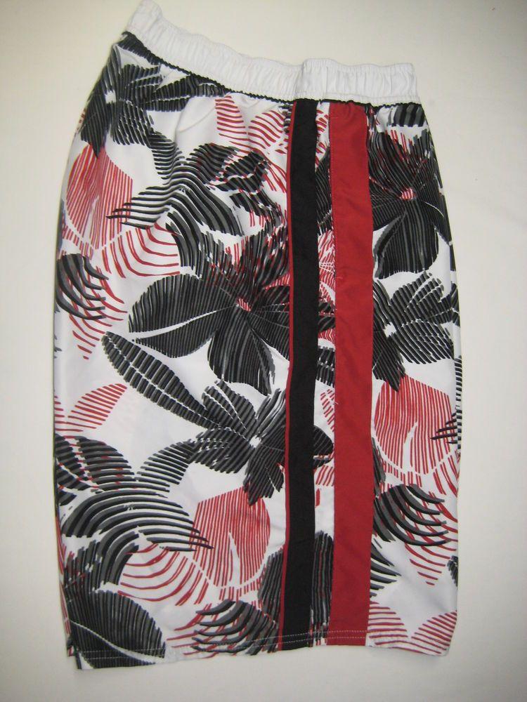 cd9c18d2a479 Nike Men s Swim Trunks Bathing Suit Board Shorts XXL Black Red White  Nike   SwimTrunks