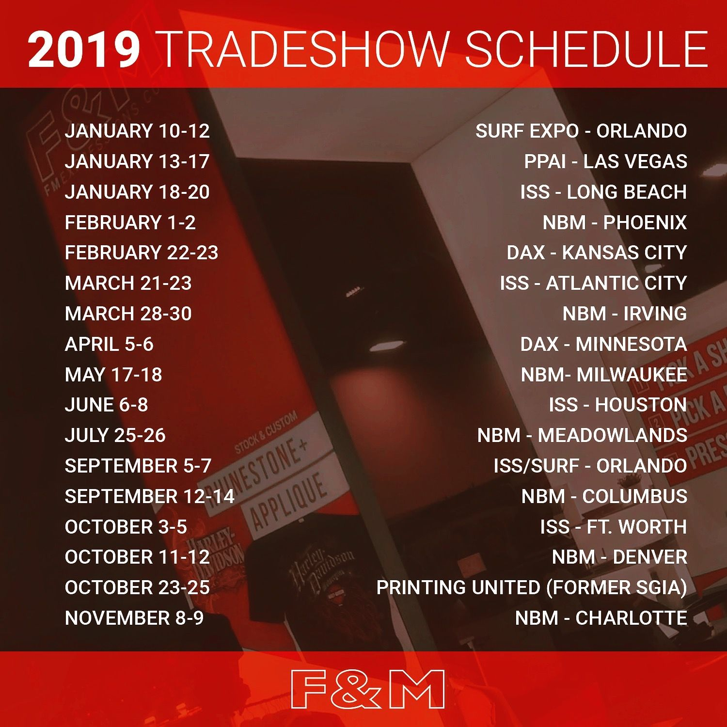 Now that the 2018 Trade Show season has come to an end, we